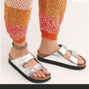Birkenstock Papillio Platform Metallic Sandals 40